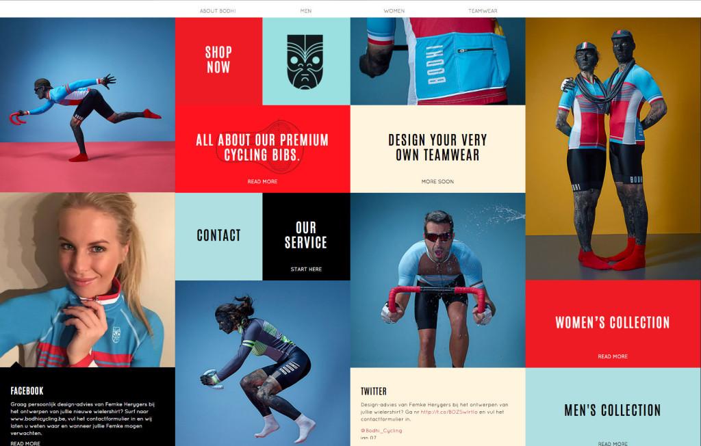 bodhi cycling webshop design