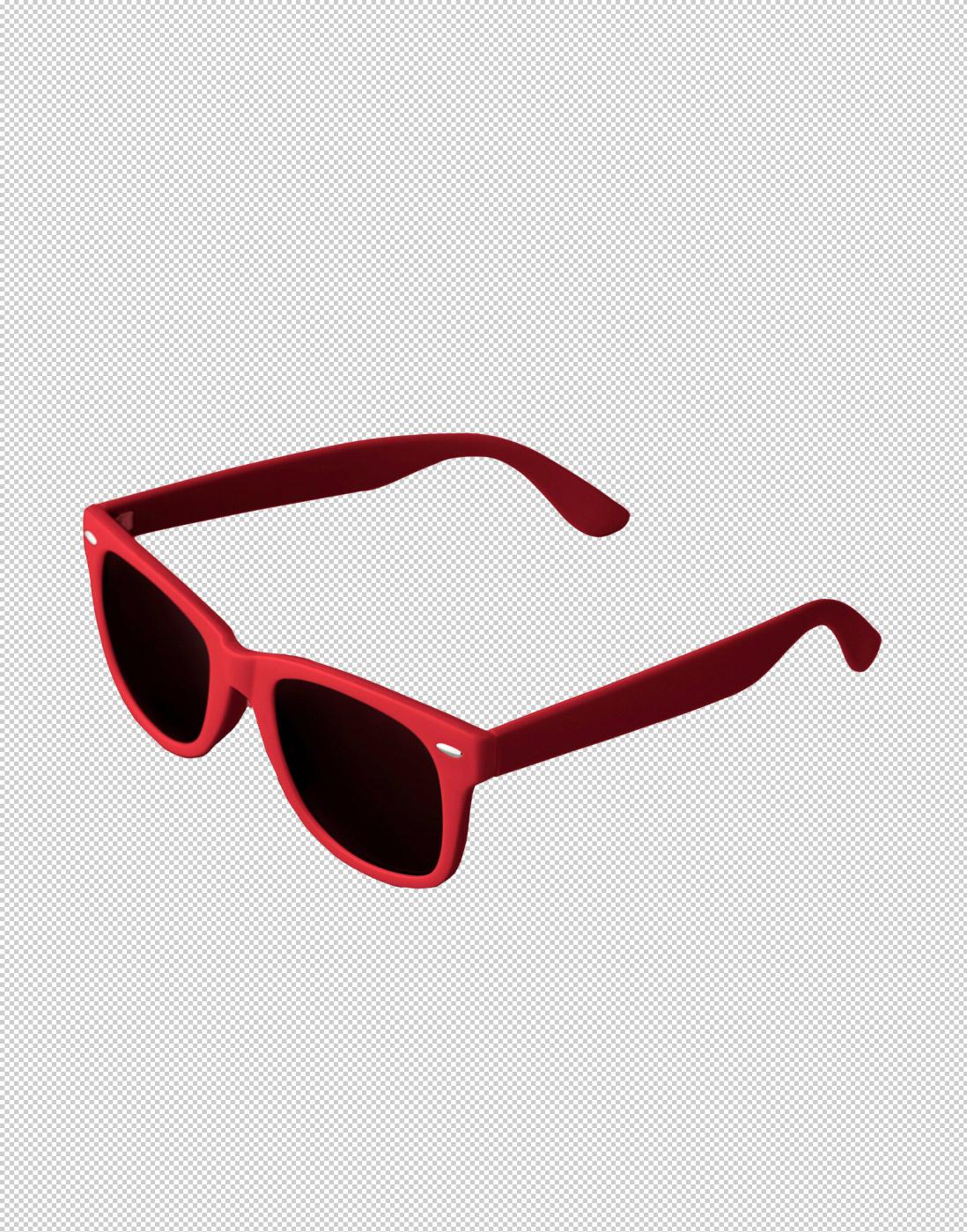 sonnenbrille-rot-hintergrund