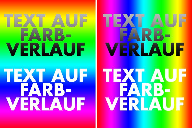 Text auf Farbverlauf